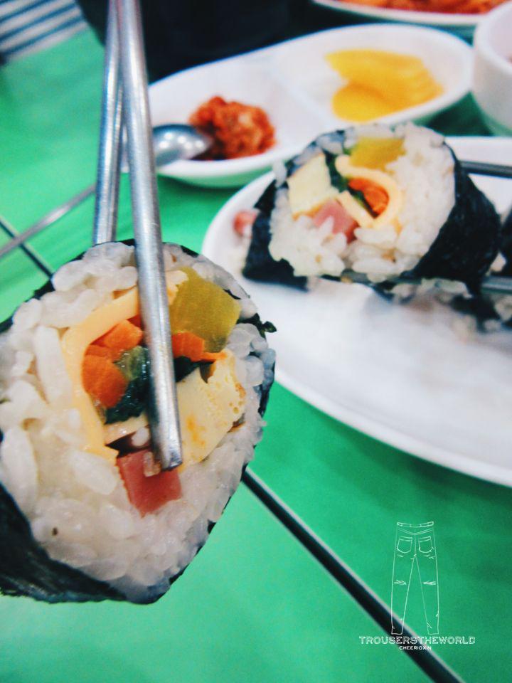 韓國正統平價美食 飯卷 Korea's Food with affordable price Gimbap
