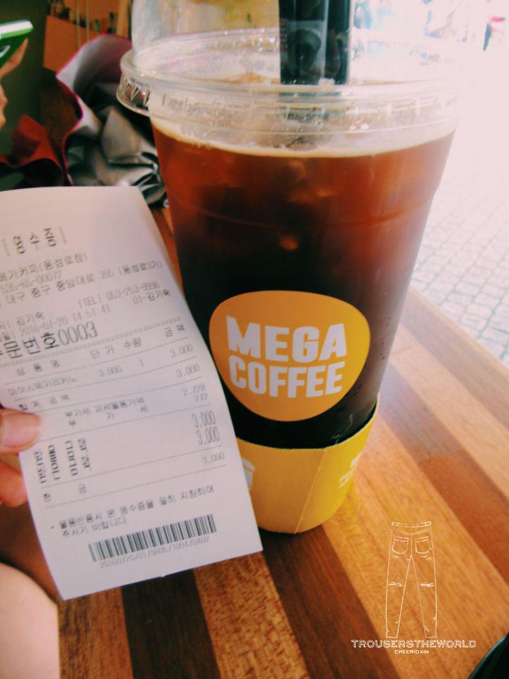 대구 점렴 큰커피 大邱 平價 大咖啡 Daegu Mega Coffee