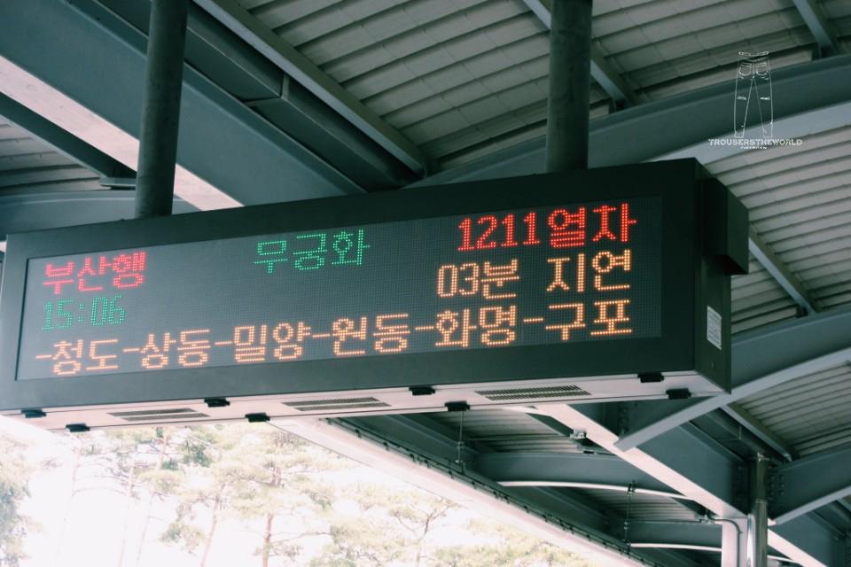 大邱往釜山火車
