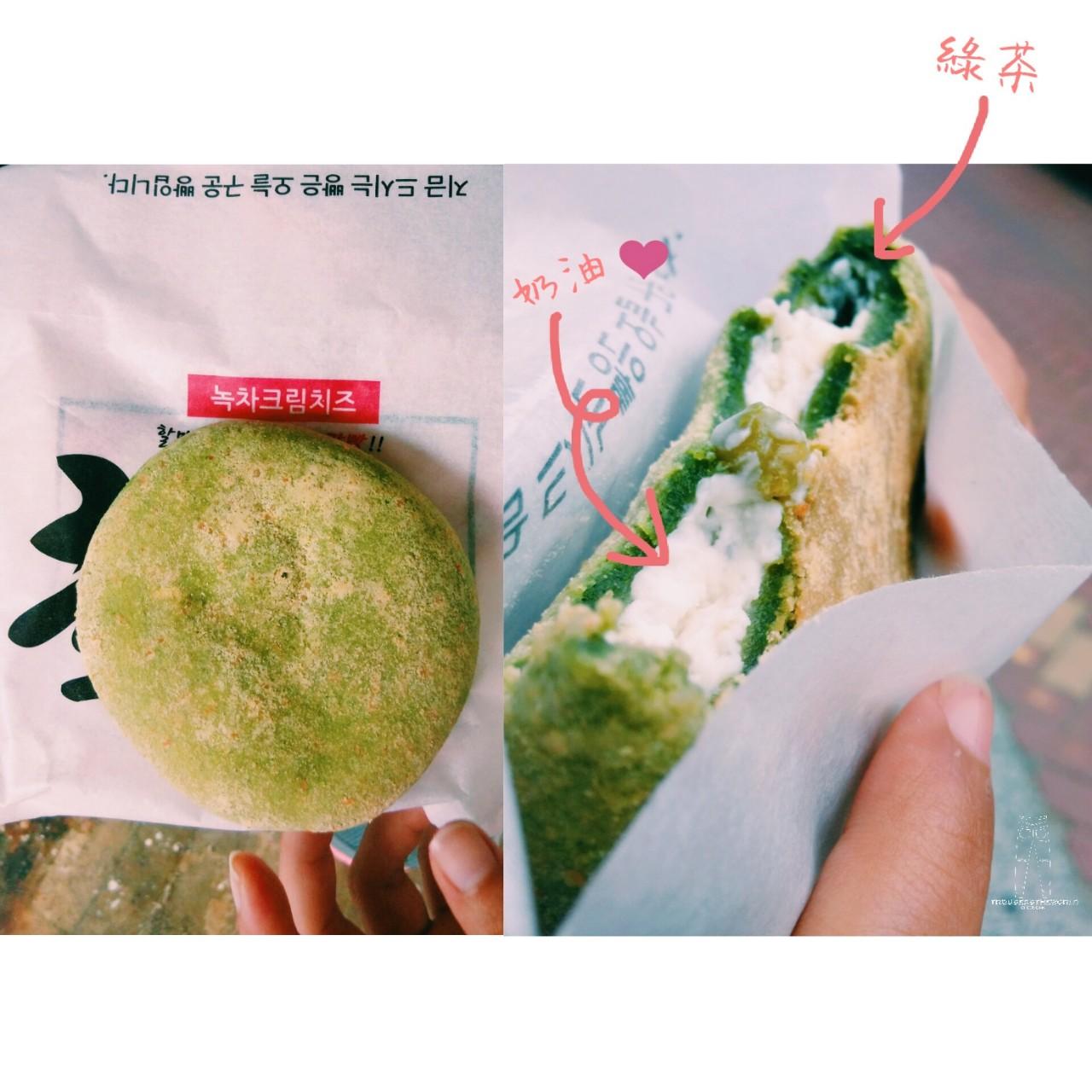大邱 起 綠茶爆漿奶油麵包 대구 녹차생크림빵 Daegu Green Tea with Bursting Fresh Cream Bun
