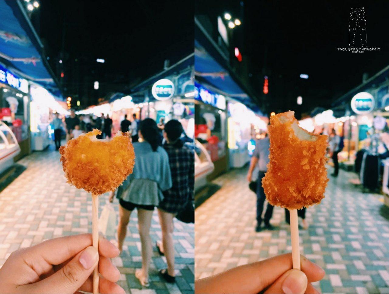 釜山 小吃 炸魚板 부산 튀김어목 Busan Street food Fried Fish Cake